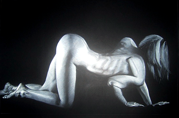 Neil Pengelly: 'Night-crawl' (charcoal)