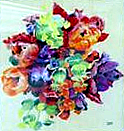 David C Hunt: 'A Spring Bouquet' (pastel)